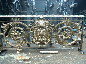 Railing, Balkon, Besi Tempa, Klasik, Classic, Balcony