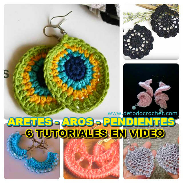 aprender a tejer aros con ganchillo con videos tutoriales
