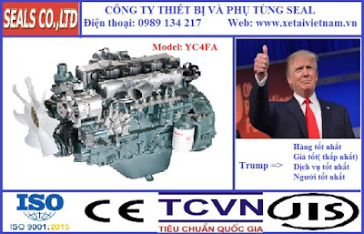 Phụ tùng động cơ yuchai chính hãng tại Hà Nội - model yuchai YC4FA