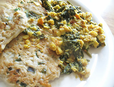 toor dal with spinach
