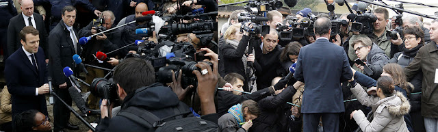 zaimprowizowane konferencje prasowe polityków