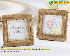 Bingkai Foto Bulu Emas Atau Gold Fleece Photo Frame