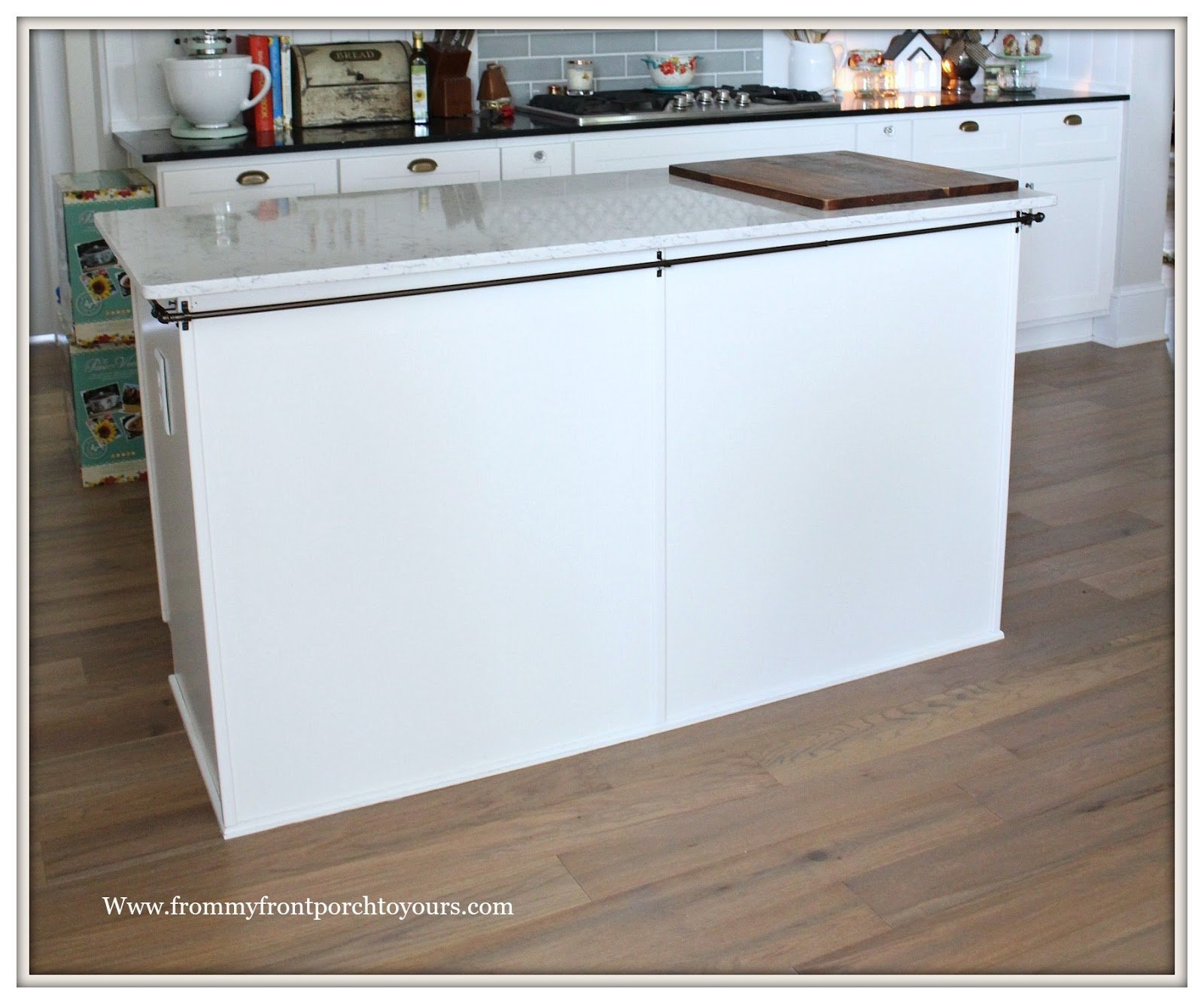 Farmhouse Kitchen Island Makeover French Farmhouse Skirted Island From My  Front Porch To