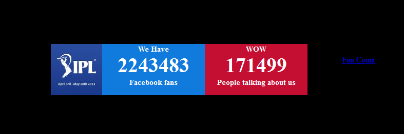 Display Facebook page fan count and talking about count to