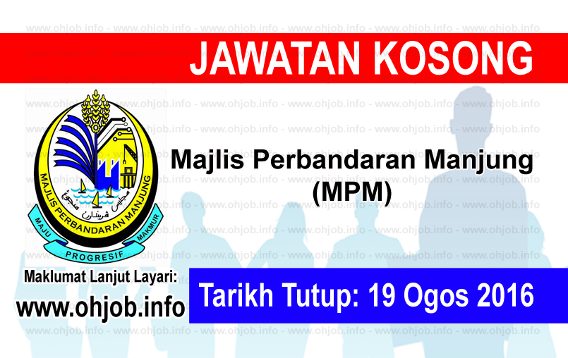 Jawatan Kerja Kosong Majlis Perbandaran Manjung (MPM) logo www.ohjob.info ogos 2016