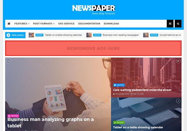 NewsPaper News Blogger Theme