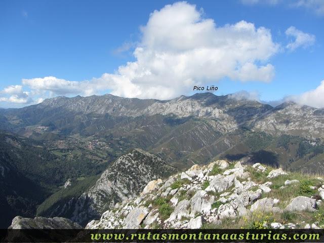 Pico Liño desde la Pica de Peñamellera