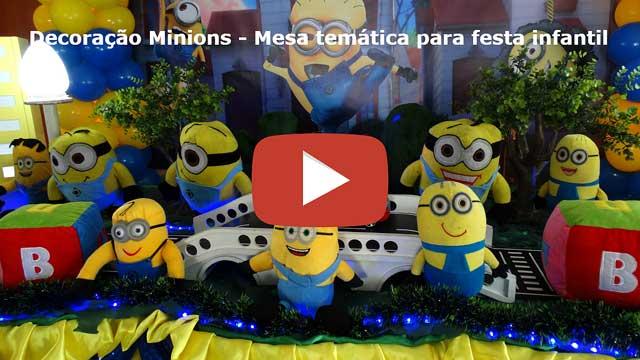 Vídeo decoração infantil Minions