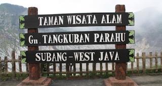 Tempat Wisata Bandung Tangkuban Perahu