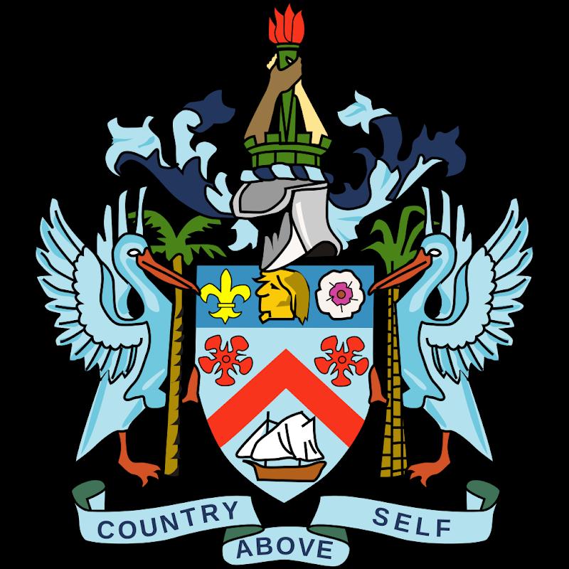 Logo Gambar Lambang Simbol Negara Saint Kitts dan Nevis PNG JPG ukuran 800 px