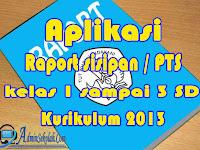 Download Aplikasi Raport Sisipan UTS SD Kurikulum 2013 Kelas 1 sampai 3
