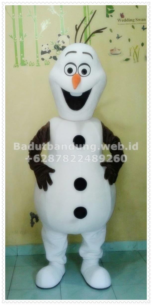 gambar kostum badut olaf salju karakter frozen