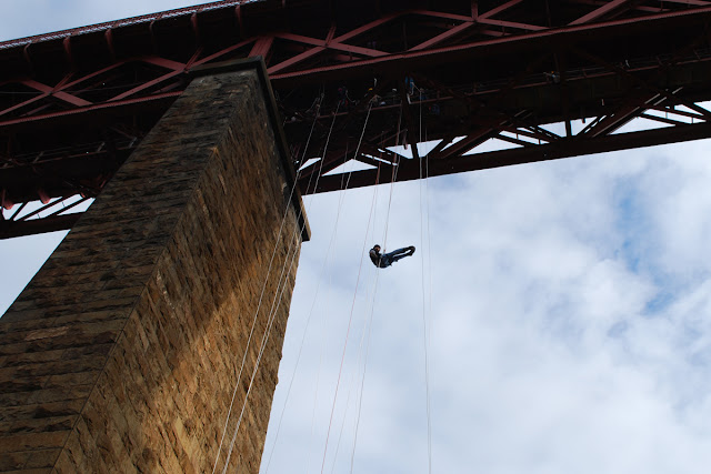 Gordon - SAMH abseil Forth rail Bridge