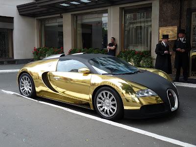 Bugatti Veyron gold car image