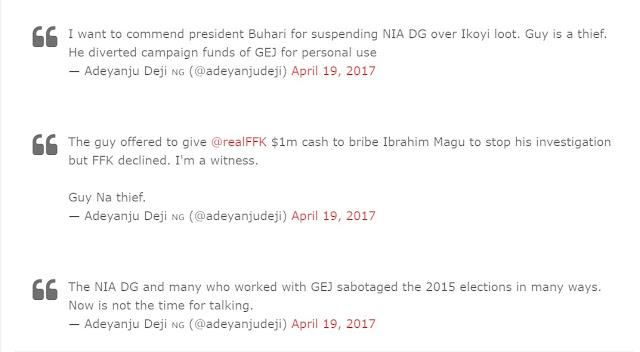 THE UNTOLD: Suspended NIA Boss Not Well Trained In Intelligence Operations, Forced On The Agency By Patience Jonathan ..Her Reason'll Shock You