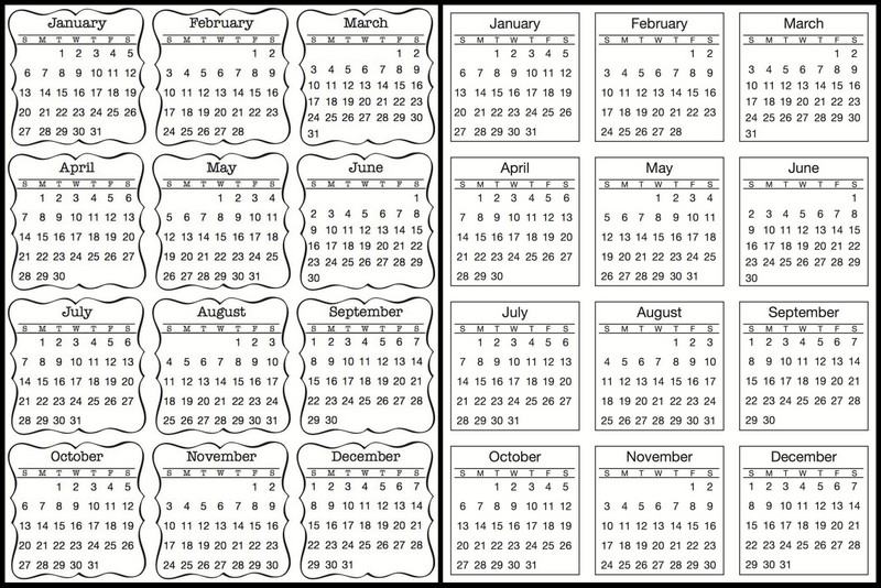 SRM Stickers: Summer Reveal; 2013 Mini Calendar + TINY