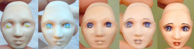 porcelain ball jointed doll painting free tutorial