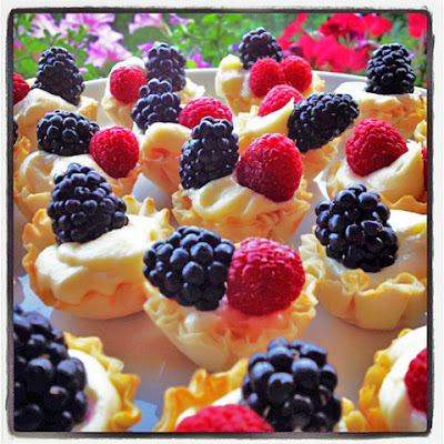 No Bake Lemonberry Cups Made With Fresh Berries and Italian Mascarpone