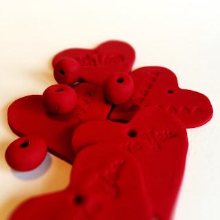 Sculpey Clay Red Hearts