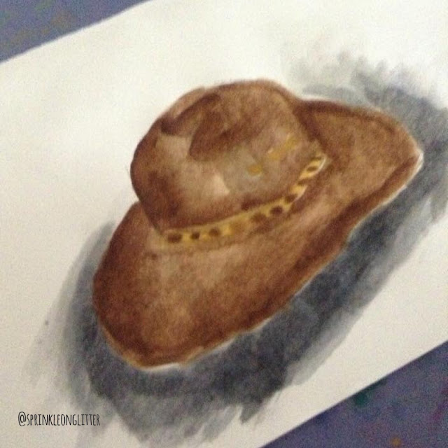 Sprinkle On Glitter Blog// watercolor cowboy hat