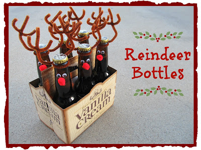 Christmas reindeer bottles