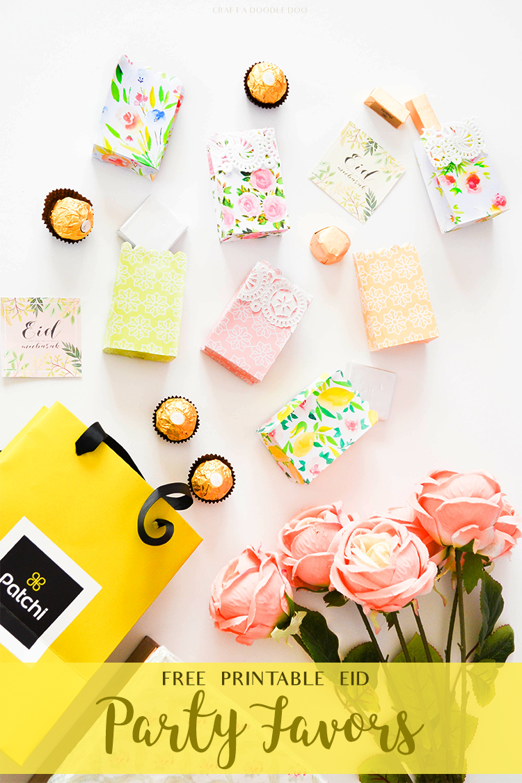 FREE PRINTABLE EID PARTY FAVORS Download these gorgeous giftbags now! #free #eid #gifts #template #printables #summer