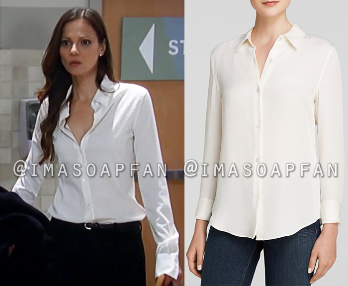 3a84d68ec96e0 Kim Nero s Ivory Silk Blouse - General Hospital