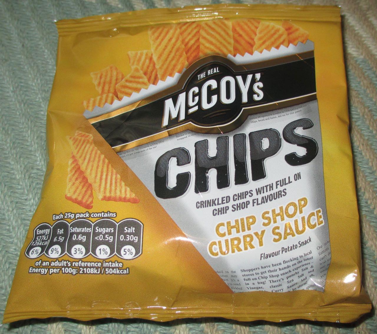 Foodstuff Finds Mccoys Chip Shop Curry Sauce Chips Crisp