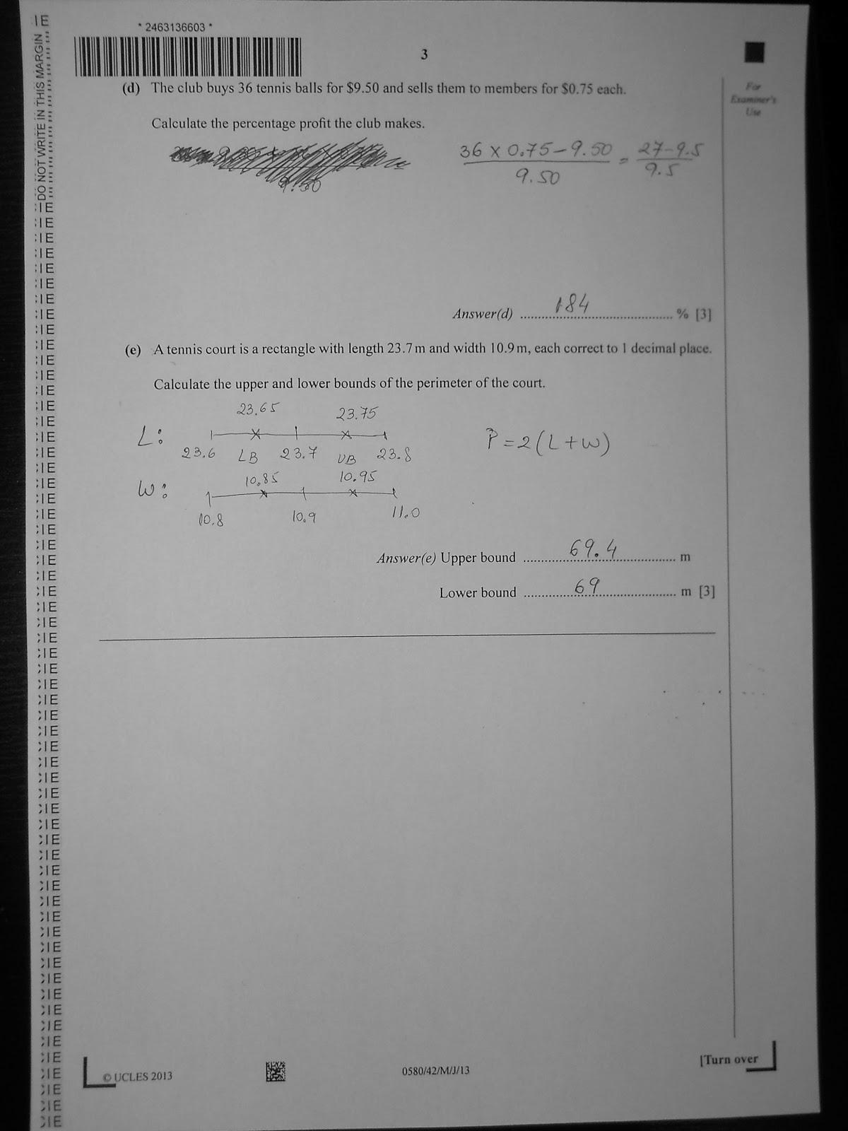Igcse mathematics past papers 2011 Essay Sample - August 2019 - 1271
