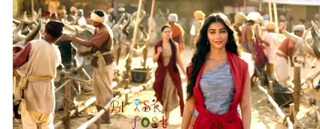 Pooja Hegde in villager's look for Mohenjo Daro