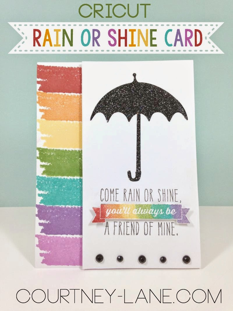 Cricut Rain or Shine card