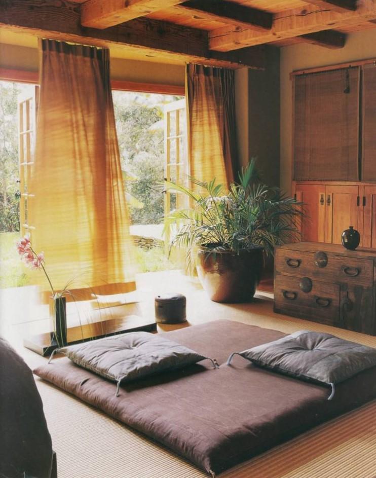 gambar dekorasi ruang tamu tanpa sofa terbaru