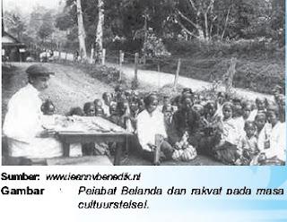 pejabat belanda dan rakyat pada masa cultuurstelsel