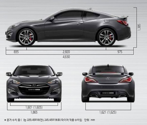 Kích Thước Xe Genesis Coupe 2014,Xe Genesis Coupe 2014
