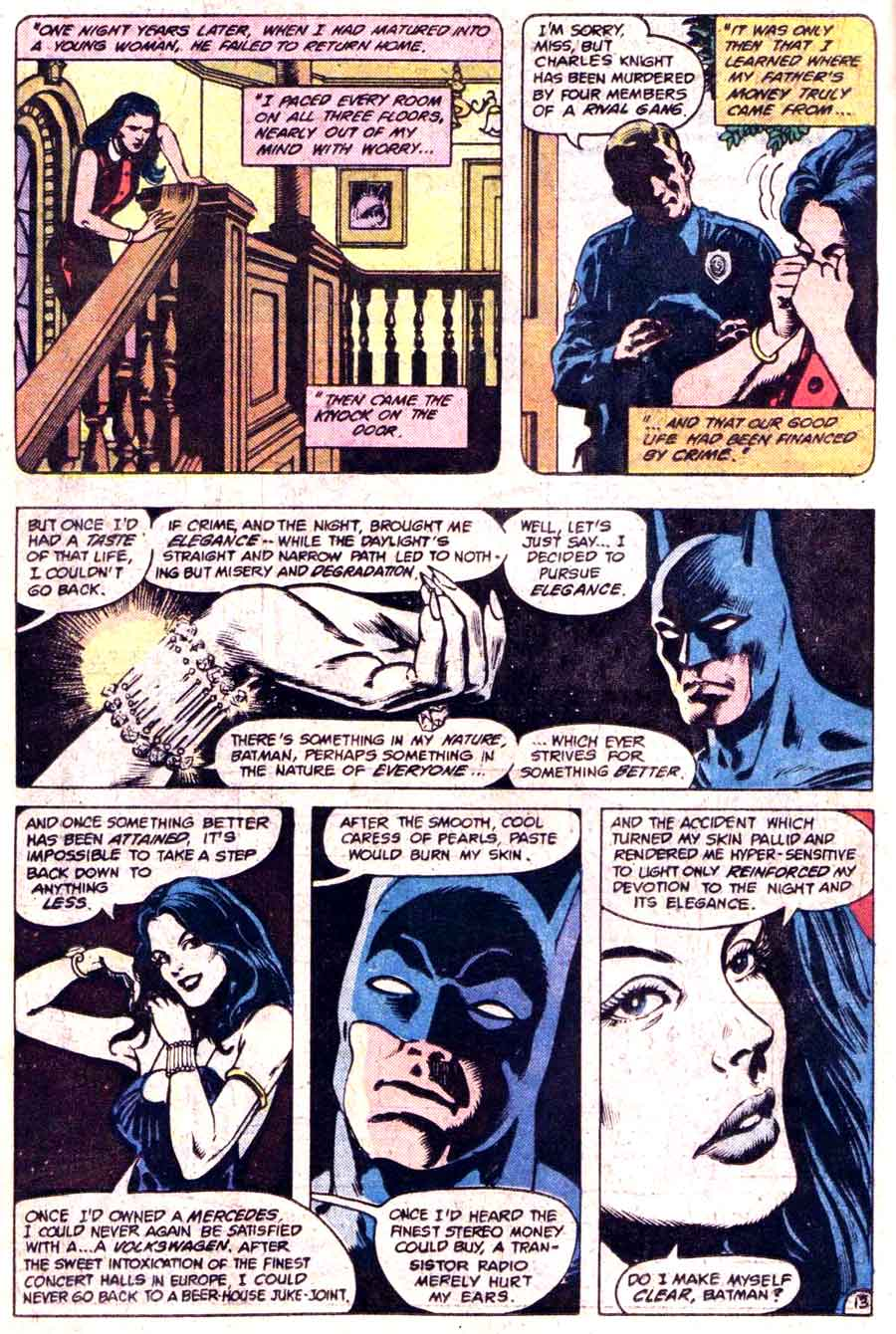 Batman #363 1st nocturna dc 1980s comic book page art by Don Newton