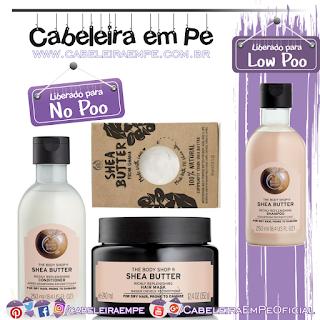 Shampoo (Low Poo), Condicionador, Máscara Fortificante e Extrato de Karité (Liberados para No Poo) - The Body Shop