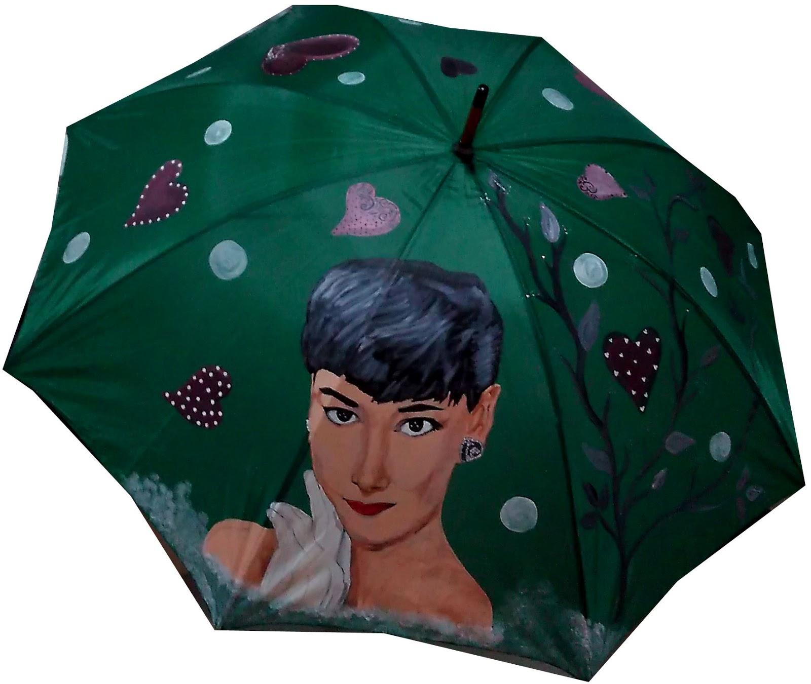 Talento x2 Moda. Arte para vestir.: Paraguas pintado a mano Desayuno ...
