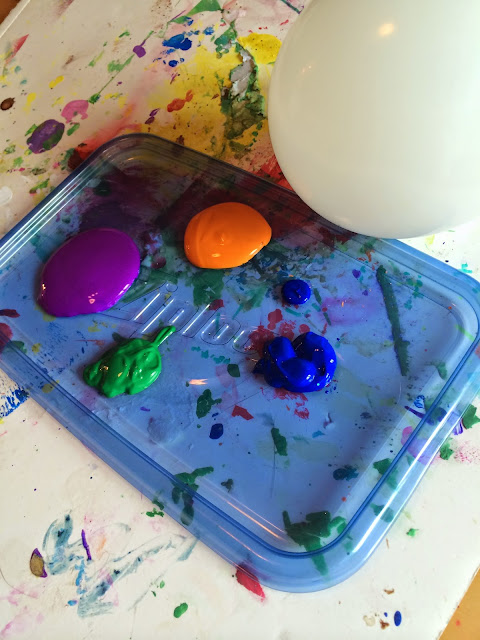 Paint splatter activity