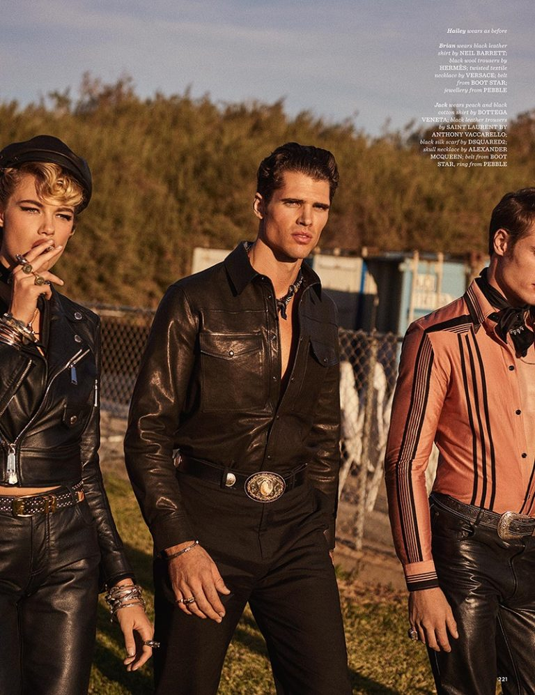 Hailey Clauson goes biker chic for GQ Style UK