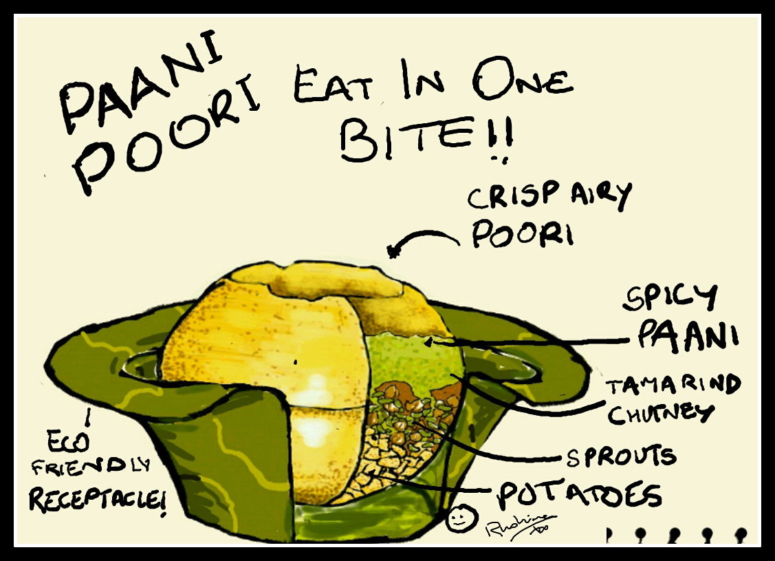 Rushina Munshaw Ghildiyal My Paani Poori Foodle And Its