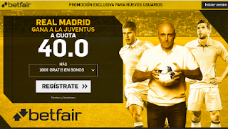 betfair supercuota Juventus vs Real Madrid 3-4-2018