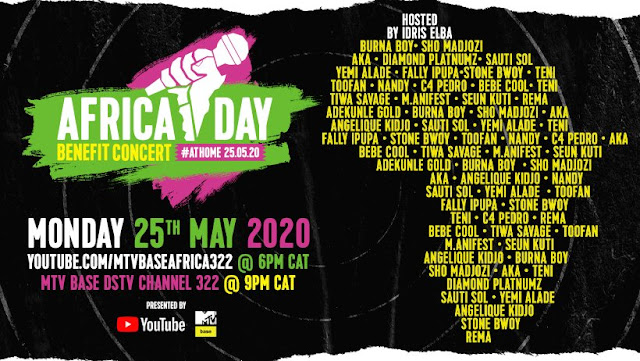 M.anifest, Stonebwoy to perform at MTV's Africa Day Benefit Concert 2