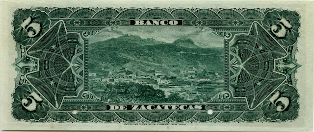 Mexican old Currency 5 Pesos
