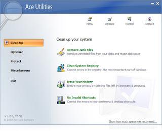 تنزيل برنامج تسريع الكمبيوتر والنت مجانا Ace Utilities