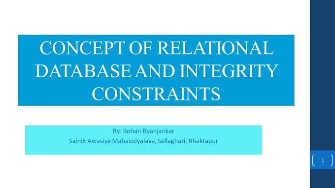 Relational Database and Integrity constraints