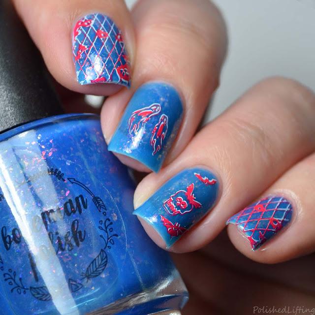 neon halloween nail art