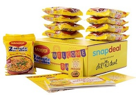 Snapdeal Buy MAGGI 2-Minute Noodles Masala 70 g (12 packs) worth Rs.180 for Rs.90 Only @ Snapdeal