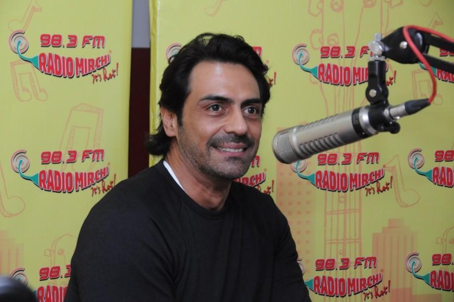 Arjun Rampal at Radio Mirchi Studio to Promote his Film Daddy