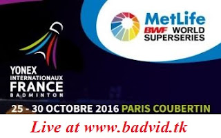 Yonex French Open 2016 live streaming and videos