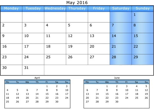 Calendar April May June Printable : Get printable calendar april may june months